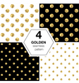 Set of four abstract bright background with golden vector image vector image