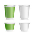 set of plastic cup layouts food packaging vector image