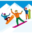 Snowboarder character in flat style vector image vector image