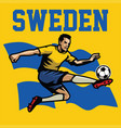 soccer player of sweden vector image vector image