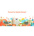 south korea banner design korean traditional vector image