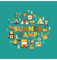 summer camp themed vector image vector image