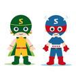 super heroe kids vector image
