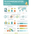 Telecommunication Infographics Layout vector image
