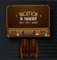 top view on travel and tourism concept template vector image vector image
