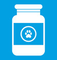 treatment solution for animals icon white