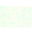 turquoise and yellow dots texture vector image vector image