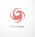 Unique flower logo design template for flower shop