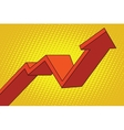 up arrow chart sales vector image vector image