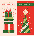 vertical banners with christmas tree holiday gifts vector image vector image