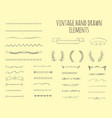 vintage hand drawn elements vector image vector image