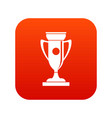 winning cup icon digital red vector image vector image