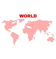 world map - mosaic of lovely hearts vector image