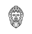 zeus god of sky and thunder mono line vector image vector image