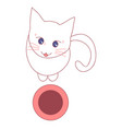 cat begging for food vector image