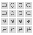 line map pointer icons set vector image