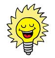 happy lightbulb vector image