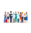 a group of people of different professions vector image