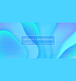 abstract background wave motion flow blue vector image vector image