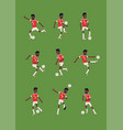 african soccer or football player performing vector image vector image
