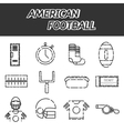 American football icon set vector image vector image