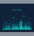 astana skyline city kazakhstan linear style vector image vector image