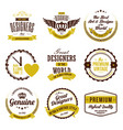 badges and labels logo collection vector image vector image