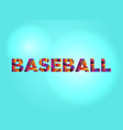 baseball concept colorful word art vector image vector image