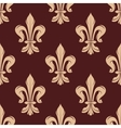 Beige and brown floral seamless pattern vector image vector image