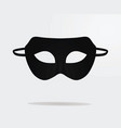 black theater mask vector image vector image