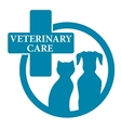 blue medical veterinary sign vector image vector image