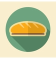 Bread retro flat icon with long shadow vector image