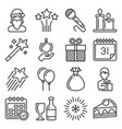 celebration new year icons set on white background vector image