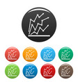 chart icons set collection circle vector image