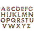 Colorful upper case alphabet letters vector image vector image