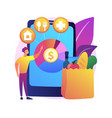 consumption expenditure abstract concept vector image vector image