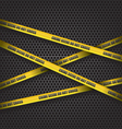 Crime scene do not cross vector image vector image