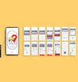 design mobile application ui ux set vector image