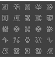 DNA and genetics linear icons vector image vector image