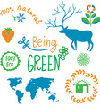 Ecology symbols and nature elements set vector image vector image