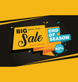 end season big sale banner template vector image