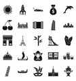 exploring the world icons set simple style vector image vector image