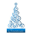 festive green christmas tree icon vector image vector image