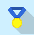first place medal icon flat style vector image