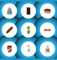 Flat icon eating set of sack spaghetti vector image