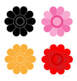 flower petals on white background vector image