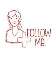 follow me design vector image
