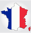 france map outline with map vector image