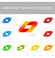 Geometrical sign logo design template vector image vector image