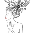 Girl with swirl hair vector image vector image